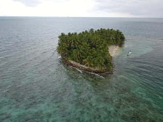 Pompoin Caye Arial View